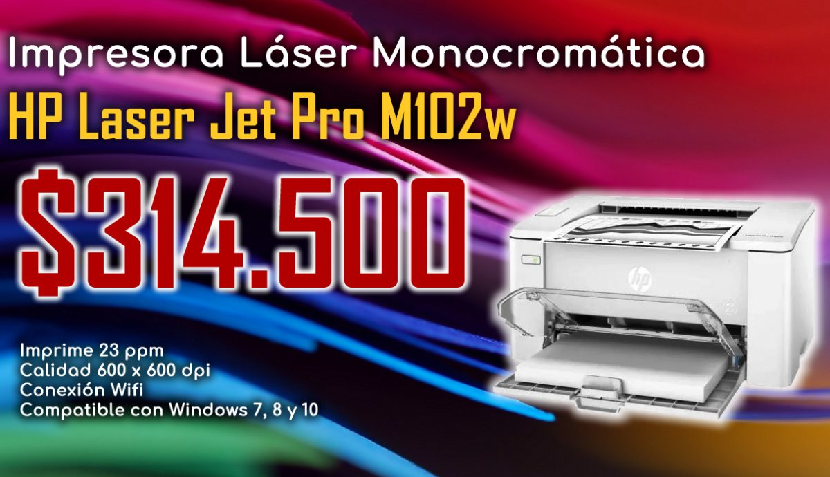 Impresora Hp Laser Jet Pro M102w - ALICOM SAS