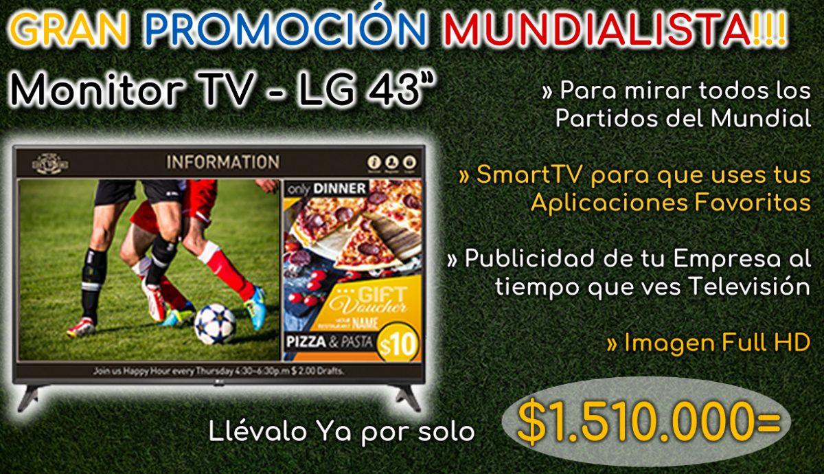 """Monitor Televisor LG 43"""" 43LV640S - Aliados Comerciales ALICOM SAS"""